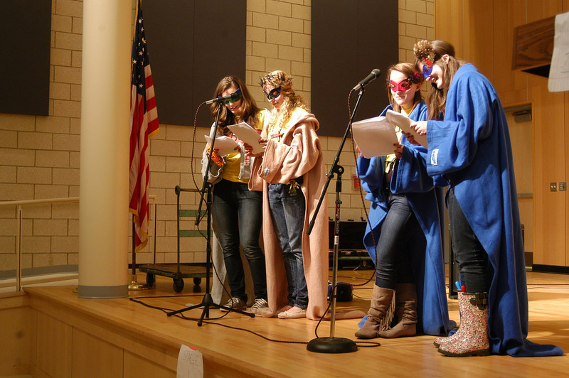 Newtown High School Junior Class Council hosted a Battle of the Bands at the high school on Friday, February 25.  (Hallabeck photo)