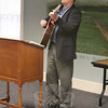 The Reverend Matthew Crebbin, senior pastor at Newtown Congregational Church, offered music during the March 6 CWU Human Rights Celebration.  (Hicks photo)