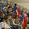 Members of the Harlem Superstars took time to meet spectators during their visit to Newtown on Saturday, March 5.   (Hallabeck photo)