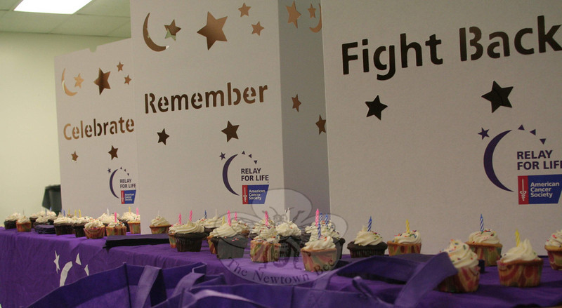 "Organizers and attendees of the 2011 Relay For Life kickoff on March 3 concluded the event by singing ""Happy Birthday To You"" and then enjoyed cupcakes in honor of this year's theme, Another Birthday Is A Gift In Itself.  (Hicks photo)"