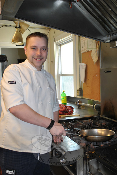 Geoffrey Moore, executive chef at The Inn at Newtown, will be featured in a five-minute food segment, Friday, March 18, on the WFSB Channel 3 Better Connecticut program, at 3 pm. Chef Moore, a Sandy Hook resident and 2000 graduate of the Arizona Culinary Institute in Scottsdale, will be showcasing some of The Inn's spring menu . He will also introduce viewers outside of the Newtown area to the many features of The Inn at Newtown, and offer $100 gift certificates for just $50 to the first 100 callers to the station that afternoon.  (Crevier photo)