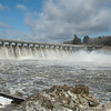All of Stevenson Dam's gates were open on March 7 following a brief but intense overnight storm that dropped a few inches of water across the region, and also began melting snow that had been in the area since late December.  (Voket photo)