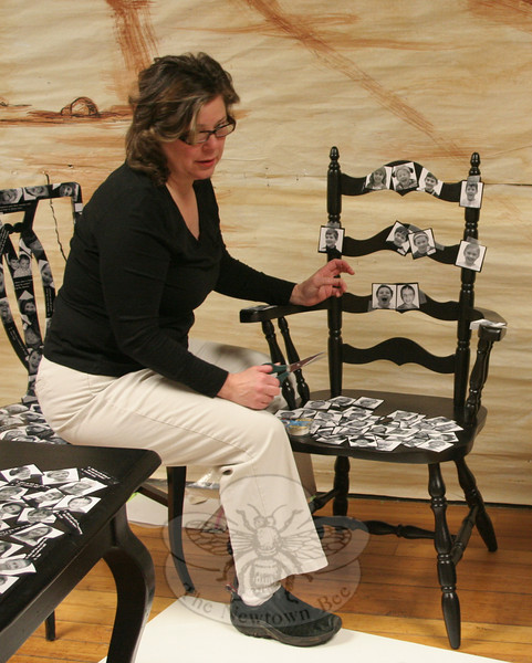 """Donna Ball has organized a committee of parents to create """"Laughing Chairs & Tables"""" for the Spring Into Auction event on March 26. The event will be a fundraiser for Head O'Meadow School's PTA.  (Hicks photo)"""