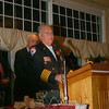 Sandy Hook Fire Chief Bill Halstead kept his remarks brief but heartfelt when he was at the podium Wednesday night. He thanked his family, who was seated at a table just in front of the head table, and his extended family — the men and women of Sandy Hook Fire & Rescue who occupied six tables in another section of the hall.  (Hicks photo)