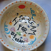 "This bowl says it all: ""I Scream For Ice Cream.""  (Crevier photo)"