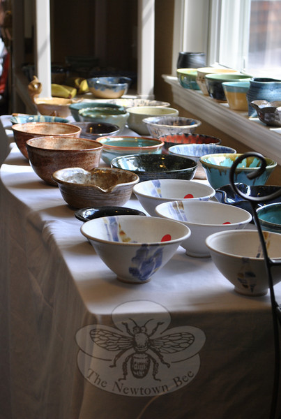 """Spring weather brought out the crowds to the """"Spring Fest"""" hosted by Maplewood at New-town on Saturday, April 2, to benefit Kevin's Community Center. The Spring Fest featured more than 100 handcrafted bowls created by members of The Connecticut Clay Artists.  (Crevier photo)"""