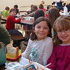 Teachers, staff, and students celebrated the start of Sandy Hook School's March Malarkey week by wearing their pajamas to school on Monday, March 28. Other days during the week were recognized with other special celebrations, like wearing crazy socks on Tuesday or Inside Out and Backwards Day on Wednesday. Second graders Kelly Terifay, left, and Susannah Drap wore their pajamas to school on Monday.  (Hallabeck photo)