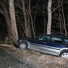Police report that motorist Fabio Felipe-DoNasciemento, 25, of Bridgeport was driving a 1996 Subaru Legacy station wagon southward on Toddy Hill Road, near its intersection with Berkshire Road, about 5:36 am on April 3, when the vehicle went off the right side of the road and struck both a tree stump and a tree. Newtown Volunteer Ambulance Corps members transported the driver to Danbury Hospital for treatment of unknown injuries, police said. Sandy Hook firefighters responded to the accident. The incident is under investigation, police said.  (Hicks photo)