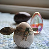 One of the eggs in Sara Washicko's collection of nvelty and decorative art eggs.  (Crevier photo)