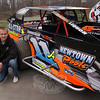Dirt modified racecar driver and New Milford resident Kyle Armstrong and his crew visited VFW Post 308, on Freedom Defenders Way, Sunday, April 10, to sign autographs and more. Mr Armstrong has been top five in points for three years running, with multiple wins. The day was sponsored by the VFW Post and its Men's Auxiliary in honor of former auxiliary member Rick Shuttleworth.  (Hallabeck photo)
