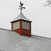 """A cupola has been constructed using the same material that White Horse Construction used to create the roof of Bob and Joyce Staudinger's new barn.  """"We won't ever have to paint that,"""" Mr Staudinger said. """"That's going to look good forever.""""  (Hicks photo)"""