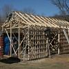 Reconstruction of Bob and Joyce Staudinger's barn.  (Hicks photo)