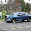 Police report that a two-vehicle accident occurred at the intersection of Riverside Road and Cherry Street in Sandy Hook about 5:55 pm April 18. The collision involved motorist Timothy Wheeler, 20, of Gallatin, Tenn., who was driving a 2005 Dodge pickup truck (shown here), and motorist Fikri Dalipi, 77, of 2 Misty Vale Road, who was driving a 2003 Honda Civic sedan. The Newtown Volunteer Ambulance Corps transported Dalipi to Danbury Hospital for treatment of injuries. Sandy Hook firefighters responded to the accident.  (Hicks photo)