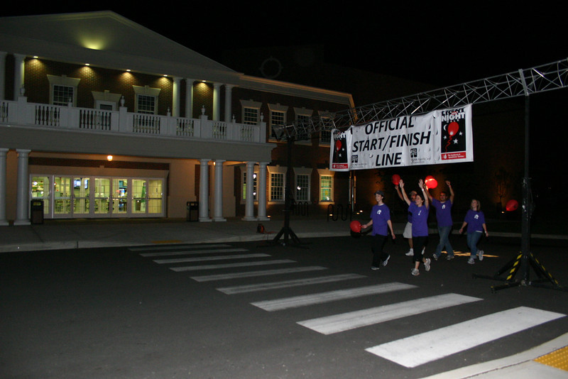 Members of Jenna's Team, one of the 2010 Light The Night teams, were among the first to complete their two laps Saturday night. The team members proudly sported T-shirts that read Tough Times Don't Last ... Tough People Do.  (Hicks photo)
