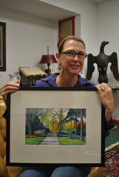 Newtown artist DeAnn Prosia has had three of her watercolors accepted into the SPAG show in Norwalk, which runs through November 7.  (Crevier photo)
