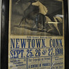 This poster for the 1900 Newtown Fair, held each fall on what is now Taylor Field behind Hawley Elementary School, hangs in the office of The Newtown Bee. The popular competitive agricultural fair featured horse races, as well, and served as a gathering spot for Newtown's 19th and early 20th Century residents.  (Crevier photo)