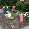 "Details of some of the birds that ""flocked"" The Newtown Bee front garden on Wednesday, April 27. The 24-hour visit by the cardboard birds was part of a fundraising effort by and for a Newtown Middle School Odyssey of the Mind team.  (Hicks photo)"