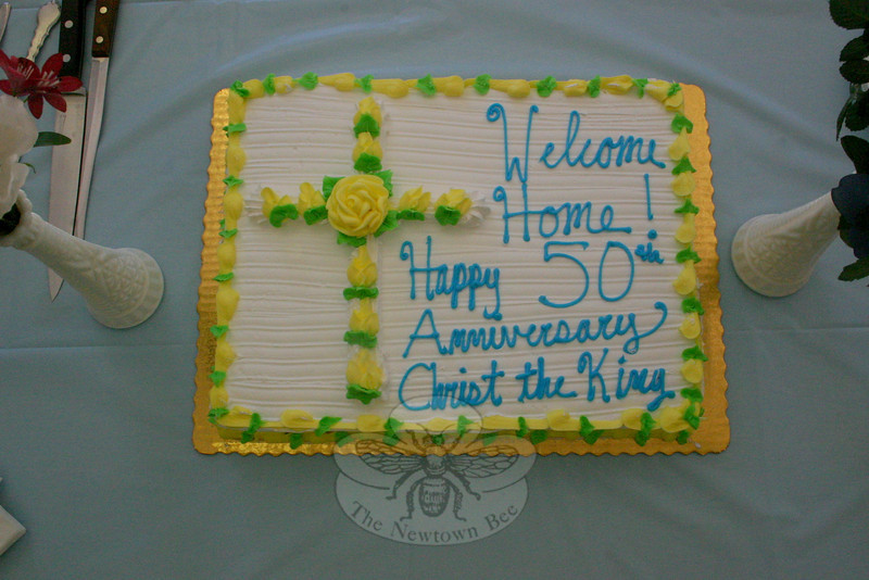 This cake was the centerpiece of a table filled with treats during the Homecoming Sunday coffee hour at Christ the King Lutheran Church.  (Hicks photo)