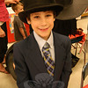 "Fourth grader Nikolas Accousti dressed as and acted as Phineas Taylor Barnum, better known as P.T. Barnum, for the school's ""Living Biographies"" project.  (Hallabeck photo)"