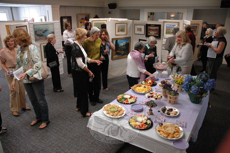 The Society of Creative Arts of Newtown, Inc, (SCAN) held a reception and awards ceremony for its 41st Annual Spring Juried Art Show on Sunday, May 1, at C.H. Booth Library.  (Gorosko photo)