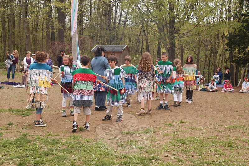 Maypole and Morris & Sword dancing were celebrated on May 2 at Housatonic Valley Waldorf School.  (Hallabeck photo)