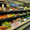 FoodWorks sells only organic produce, displayed in a 24-foot-long refrigerated case.  (Crevier photo)