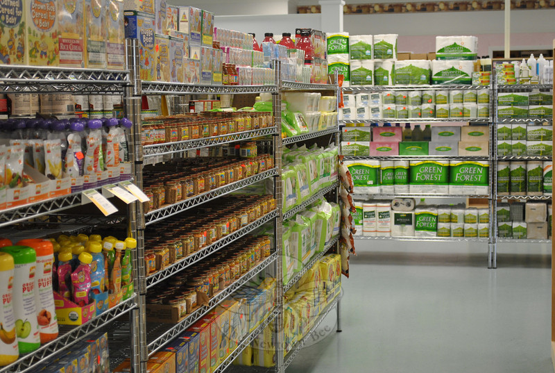 The large selection of baby foods and products and dry goods at FoodWorks must meet the criteria of being all-natural and earth friendly.  (Crevier photo)