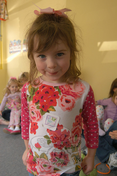 Newtown Bee: What is special about your mother? Kamryn Morgenstern: She loves me.  (Hallabeck photo)