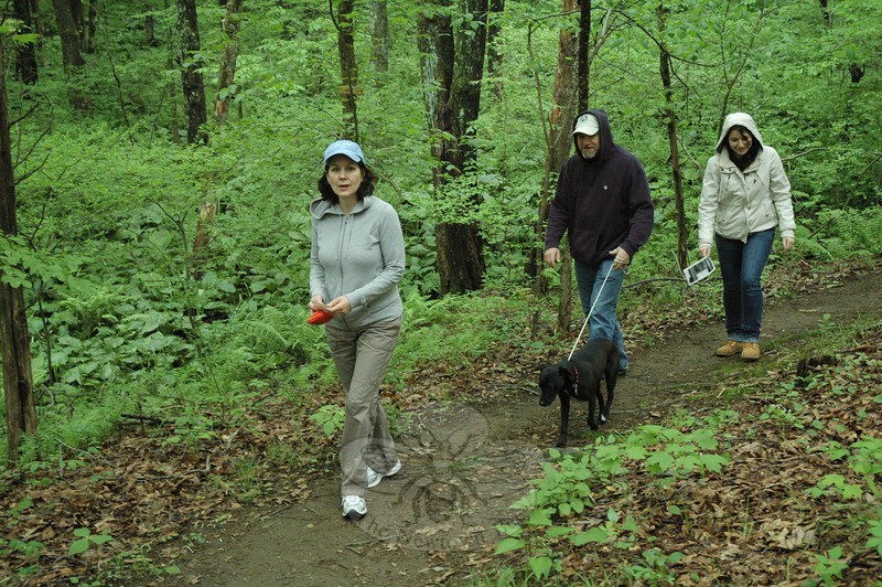 From left, parents Ronalee and Brad Tefft were accompanied by their daughter Caitlin as they toured the Orchard Hill Nature Center. Family pet Daisy came along for the trip.  (Gorosko photo)