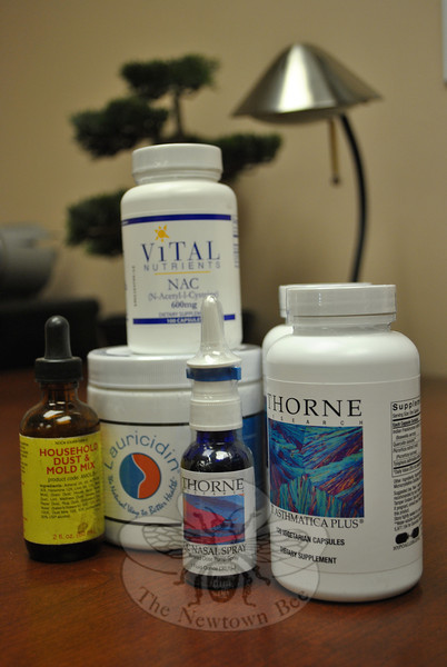 Dr Shawn Carney, ND, of Northeast Natural Medicine in Newtown, recommends supplements that can boost the immune system and reduce inflammation to combat seasonal allergies, based on a patient's individual symptoms.  (Crevier photo)