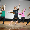 Lathrop School of Dance will present its 59th annual Stardust Revue, with more than 400 students participating, the weekend of June 3-5. Performances will be Friday at 7, Saturday at 4 and 7 pm, and Sunday at 1 and 4, all in the theater of Edmond Town Hall, 45 Main Street in Newtown. The Friday evening performance will be a special benefit for Danbury Hospital's Pediatric Unit and the second show on Sunday will be a benefit for Newtown Scholarship Association. Tickets for all shows are $13 and they can be ordered in advance or purchased at the box office prior to each show. Students have been rehearsing for weeks, which explains the music and costumed dancers that have been in the theater since at least early May, when this photo was taken.  (Hicks photo)