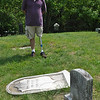 "Charles ""Mike"" Anderson of Prospect began researching his family history 22 years ago, and discovered that his great-great-great-uncle, John T. Pearce of Bethel, was the founder of The Newtown Bee. He was able to locate the burial plot of Mr Pearce in Bethel's Center Cemetery, despite the lack of a marker. Mr Anderson has applied to the Department of Veteran's Affairs to have a special style Confederate headstone erected to mark the final resting place of John T. Pearce.  (Crevier photo)"