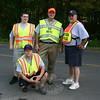 "Sandy Hook Fire & Rescue members, standing from left, Andy Ryan, Chip Carlson, and Karl Sieling, and kneeling, Ray Rinaldi, handled parking duties during LobsterFest.  (Hicks photo) NOTE: additional photos from LobterFest can be found in their own photo gallery, found here: <a href=""http://photos.newtownbee.com/Events/24th-Annual-Sandy-Hook-Lobster/17597124_2qVGdM#1340648801_zvgNTZN"">http://photos.newtownbee.com/Events/24th-Annual-Sandy-Hook-Lobster/17597124_2qVGdM#1340648801_zvgNTZN</a>"