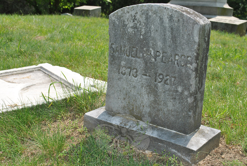 The headstone of Samuel H. Pearce, a son of Bee founder and Confederate soldier John T. Pearce, remains standing in Center Cemetery, Bethel. Mr Pearce's great-great-great-nephew, Mike Anderson, has deduced that one of the nearby unmarked plots is that of the man who started The Newtown Bee, and is hoping to see a military headstone erected in the coming months to mark the grave.