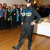 """Bob Tait proudly showed off """"Let's Take The Mystery Out of Cancer"""" during the October 23 Artful Bras event.  (Hicks photo)"""