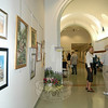 Attendees of the opening reception for The Society of Creative Arts of Newtown (SCAN) Summer Art Show & Sale on Saturday, June 29, were invited to meet members of the arts organization and view the oils, pastels, watercolors, acrylics, mixed media, printmaking, and graphics on view weekdays at Newtown Municipal Center, 3 Primrose Street, until July 29.  (Hallabeck photo)