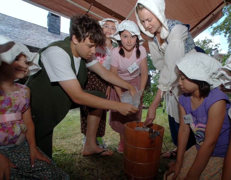 """(Bobowick photo) PLEASE NOTE: additional photos from History Camp 2011, which were presented in the slideshow that accompanied the online story """"Newtown History Campers Spend Time Touring The 1700s,"""" can be found here:<br />  <a href=""""http://photos.newtownbee.com/Events/Newtown-Historical-Society/18280146_hD7LmD#1406607104_dnGRwNh"""">http://photos.newtownbee.com/Events/Newtown-Historical-Society/18280146_hD7LmD#1406607104_dnGRwNh</a>"""