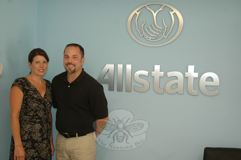 Peter Stockwell and his wife Jennifer recently acquired the local Allstate agency and are ramping up the already diverse number of insurance and financial services being made available to clients, Newtown residents and businesses.  (Voket photo)
