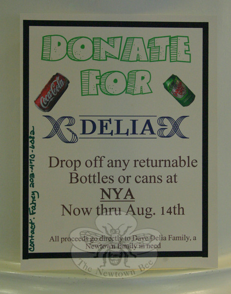 Fliers have been created to remind residents of the special bottle and can drive ongoing at Newtown Youth Academy through August 14.  (Hicks photo)