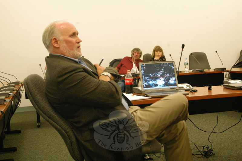 Town Director of Planning and Land Use George Benson listens at a September 20 Planning and Zoning Commission (P&Z) meeting held to discuss ways the land use agency can foster significant open space preservation in certain new residential subdivisions.  (Gorosko photo)