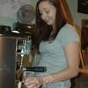 Paulina Krynska prepares a steamy jolt of espresso at the Hideaway Cafe on South Main Street.  (Voket photo)