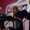 Flagpole Repertory Theatre member Barbara Gaines, September 17 during Flagpole Radio Cafe.  (Bobowick photo)