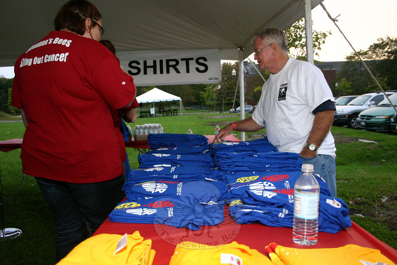 T-shirts were among the rewards for Light The Night participants who raised at least $100 before Saturday's event at Fairfield Hills.  (Hicks photo)