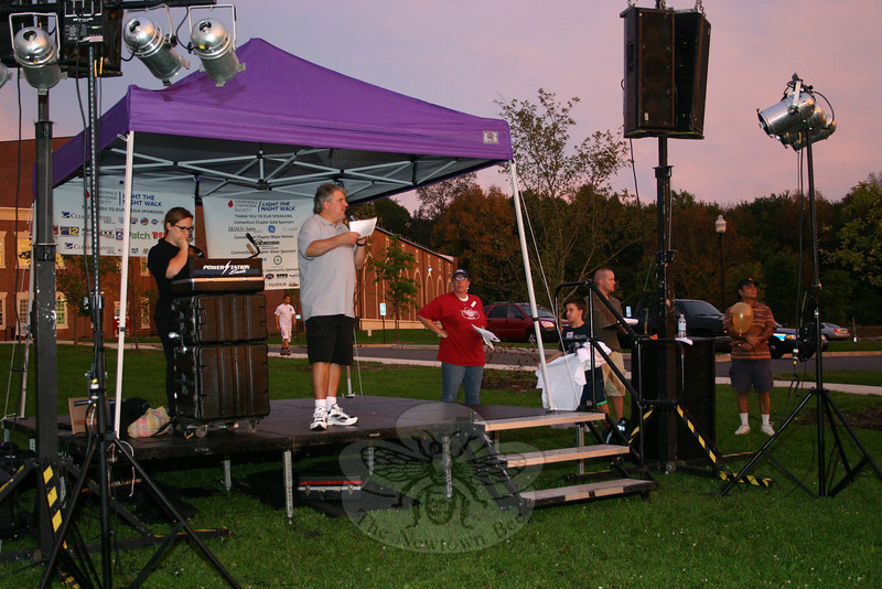 105.5 KICKS FM DJ Mr Morning was one of the emcees for the 2011 Light the Night Walk at Fairfield Hills on Saturday, September 24.  (Hicks photo)
