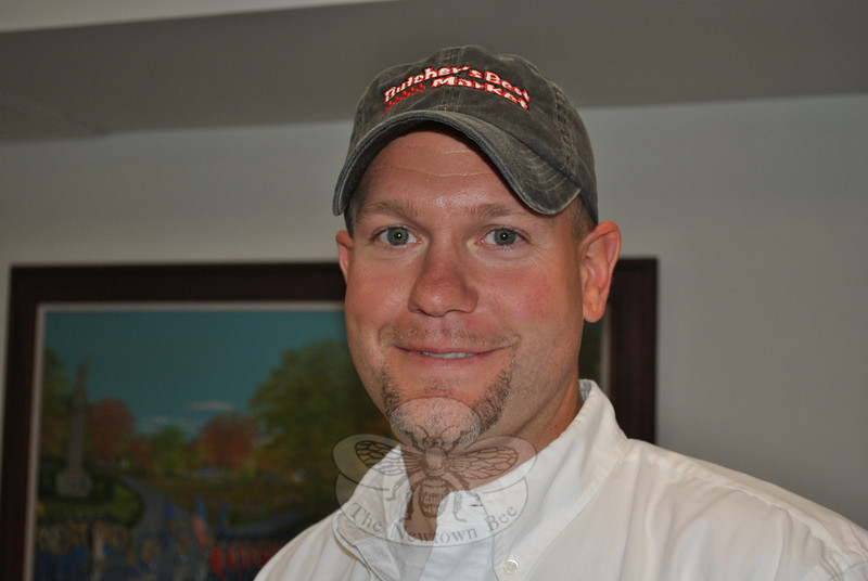 Local butcher Ryan Marcoux, who is married to Reed School teacher Kelly Marcoux, is featured in this week's Snapshot column.  (Crevier photo)
