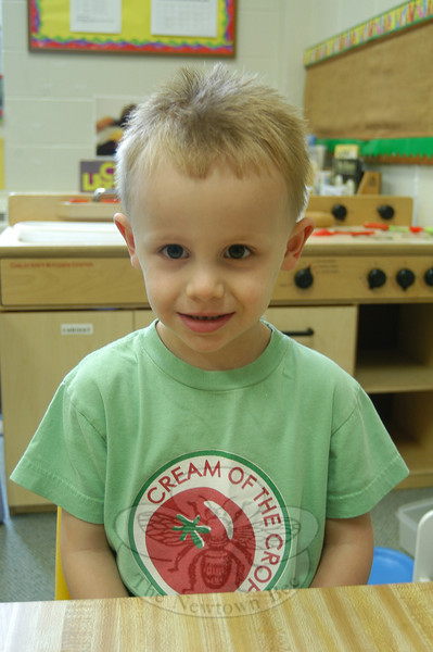 Newtown Bee: What makes you happy? Colin Dirga: My mommy does, because she does. (Hallabeck photo)