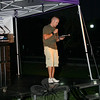"""Jay Edwards, a teacher at Newtown High School and """"The Voice of The Nighthawks,"""" returned to serve as one of the event's emcees.  (Hicks photo)"""