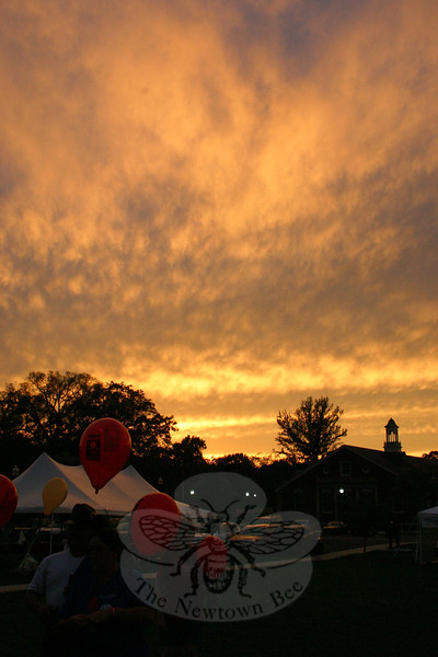A gorgeous sunset was an unexpected highlight of the 2011 Light the Night Walk at Fairfield Hills on Saturday, September 24.  (Hicks photo)