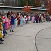 Superheroes, a devil, a few princesses, and more walked through Sandy Hook School on Friday, October 29, and outside the school to parade for teachers, parents, and visiting relatives for the annual Halloween kindergarten parade at the school. Students also sang festive songs for the occasion under the guidance of school teachers.  (Hallabeck photo)