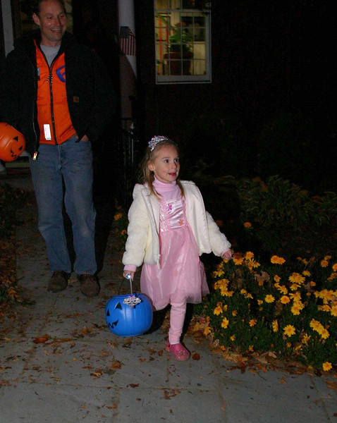 Classic princess costumes, like this pink one, were abundant again this Halloween.  (Hicks photo)